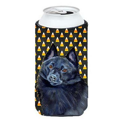 Schipperke Candy Corn Halloween Portrait Tall Boy bottle sleeve Hugger 22 To ...