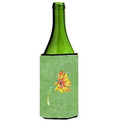 Carolines Treasures Gerber Daisy Orange Wine bottle sleeve Hugger 24 oz.