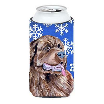 Newfoundland Winter Snowflakes Holiday Tall Boy bottle sleeve Hugger 22 To 24...
