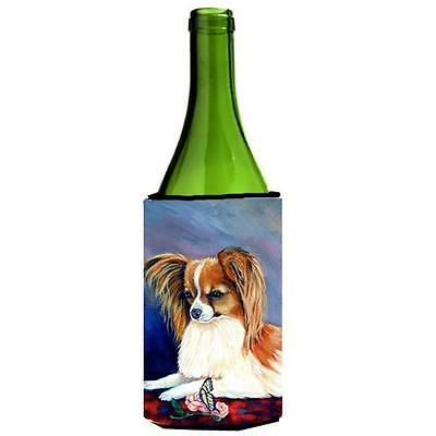 Carolines Treasures Papillon Rose and Butterfly Wine bottle sleeve Hugger