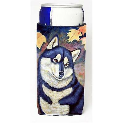 Fall Leaves Siberian Husky Michelob Ultra bottle sleeves For Slim Cans 12 oz.