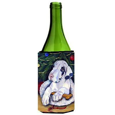 Christmas Tree With Harlequin Great Dane Wine bottle sleeve Hugger 24 oz. • AUD 48.26
