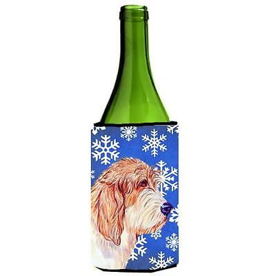 Petit Basset Griffon Vendeen Winter Holiday Wine bottle sleeve Hugger
