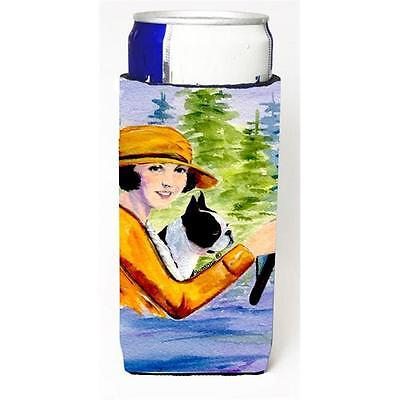 Woman Driving With Her Boston Terrier Michelob Ultra bottle sleeves For Slim ...