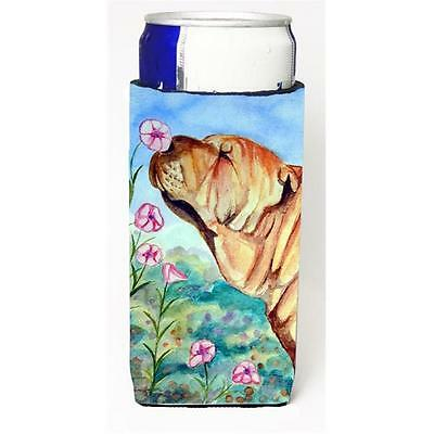 Shar Pei Smell The Flowers Michelob Ultra bottle sleeves For Slim Cans 12 oz.