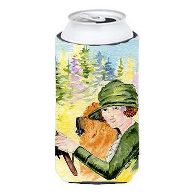 Lady Driving With Her Chow Chow Tall Boy bottle sleeve Hugger 22 To 24 oz.