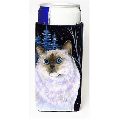 Starry Night Cat Birman Michelob Ultra bottle sleeves For Slim Cans