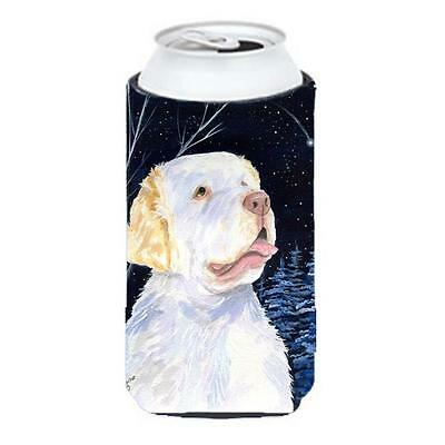 Starry Night Clumber Spaniel Tall Boy bottle sleeve Hugger 22 To 24 oz.