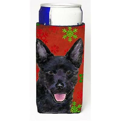 Australian Kelpie Red Green Snowflakes Christmas Michelob Ultra bottle sleeve...