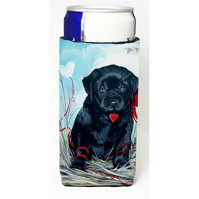 Black Labrador Puppy Michelob Ultra bottle sleeve for Slim Can