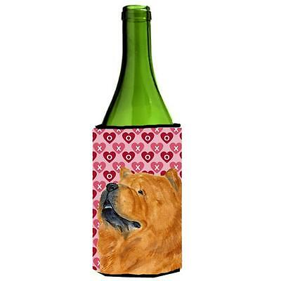 Chow Chow Hearts Love And Valentines Day Wine bottle sleeve Hugger