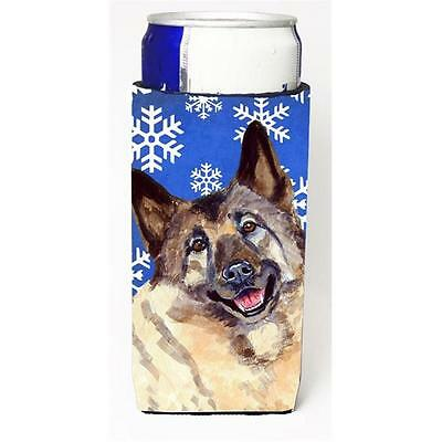Norwegian Elkhound Winter Snowflakes Holiday Michelob Ultra bottle sleeves Fo...