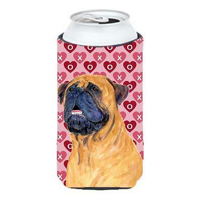 Mastiff Hearts Love And Valentines Day Portrait Tall Boy bottle sleeve Hugger