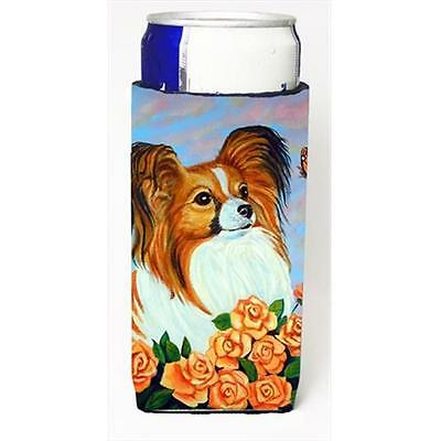 Carolines Treasures 7246MUK Papillon Michelob Ultra bottle sleeves For Slim Cans