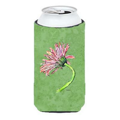 Carolines Treasures Gerber Daisy Pink Tall Boy bottle sleeve Hugger 22 To 24 oz.