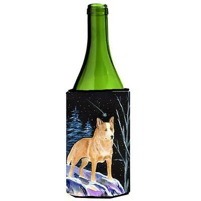 Carolines Treasures Starry Night Australian Cattle Dog Wine bottle sleeve Hugger