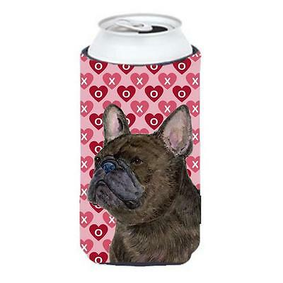 French Bulldog Hearts Love And Valentines Day Portrait Tall Boy bottle sleeve...