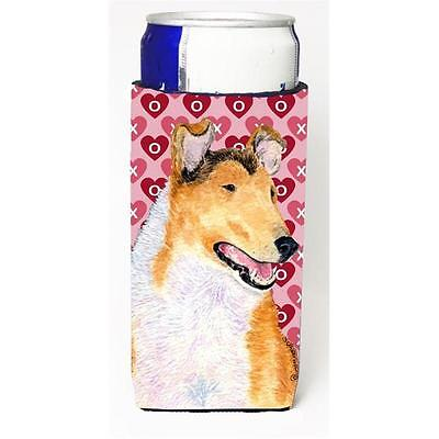 Collie Smooth Hearts Love And Valentines Day Portrait Michelob Ultra bottle s...