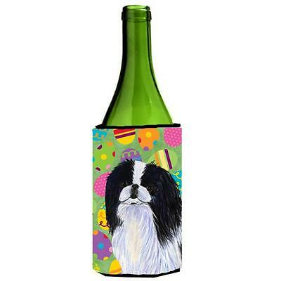Carolines Treasures Japanese Chin Easter Eggtravaganza Wine bottle sleeve Hugger
