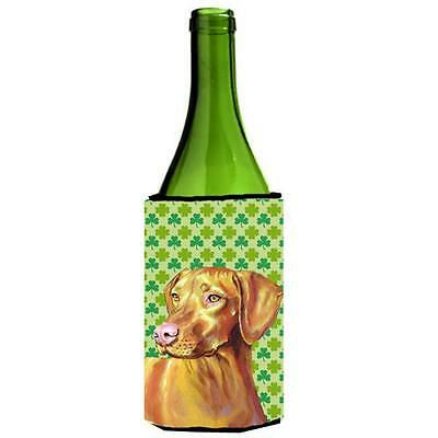 Vizsla St. Patricks Day Shamrock Portrait Wine bottle sleeve Hugger • AUD 48.26