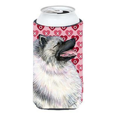 Keeshond Hearts Love And Valentines Day Portrait Tall Boy bottle sleeve Hugge...