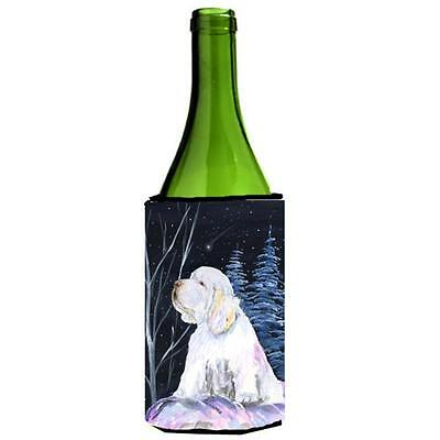 Carolines Treasures Clumber Spaniel Wine bottle sleeve Hugger 24 oz.