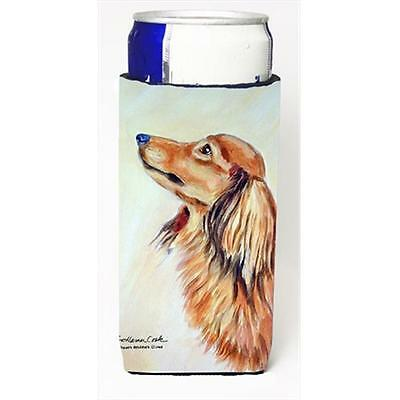 Long Haired Red Dachshund Michelob Ultra bottle sleeves For Slim Cans
