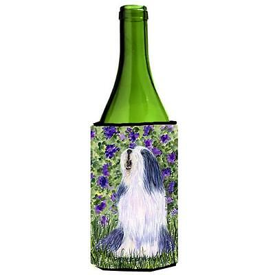 Carolines Treasures SS8602LITERK Bearded Collie Wine bottle sleeve Hugger 24 oz.