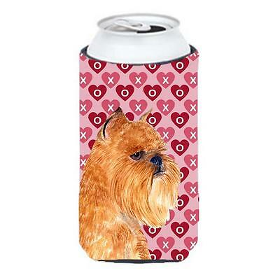 Brussels Griffon Hearts Love Valentines Day Portrait Tall Boy bottle sleeve H...