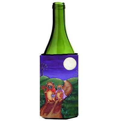 Trick Or Treat Halloween Pug Wine bottle sleeve Hugger 24 Oz.