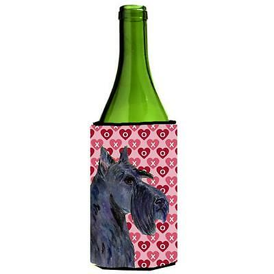 Scottish Terrier Hearts Love Valentines Day Portrait Wine bottle sleeve Hugger