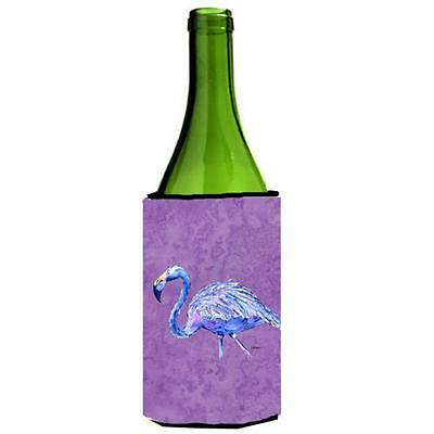Carolines Treasures Flamingo On Purple Wine bottle sleeve Hugger 24 oz.