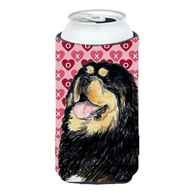 Tibetan Mastiff Hearts Love Valentines Day Tall Boy bottle sleeve Hugger • AUD 47.47