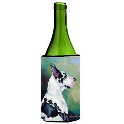 Carolines Treasures Harlequin Great Dane Wine bottle sleeve Hugger 24 Oz.