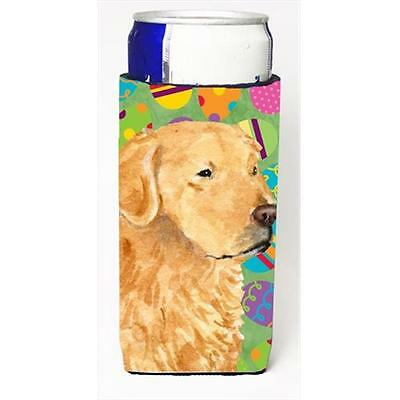 Golden Retriever Easter Eggtravaganza Michelob Ultra bottle sleeves For Slim ...