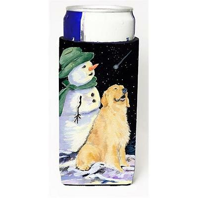 Golden Retriever With Snowman In Green Hat Michelob Ultra bottle sleeves For ...