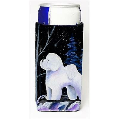 Starry Night Bichon Frise Michelob Ultra bottle sleeves For Slim Cans