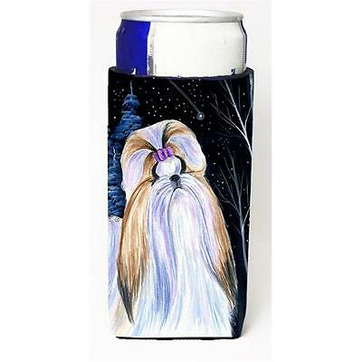 Starry Night Shih Tzu Michelob Ultra bottle sleeves For Slim Cans 12 oz.