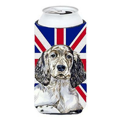 English Setter With English Union Jack British Flag Tall Boy bottle sleeve Hu...