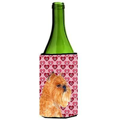 Brussels Griffon Hearts Love And Valentines Day Wine bottle sleeve Hugger 24 oz.