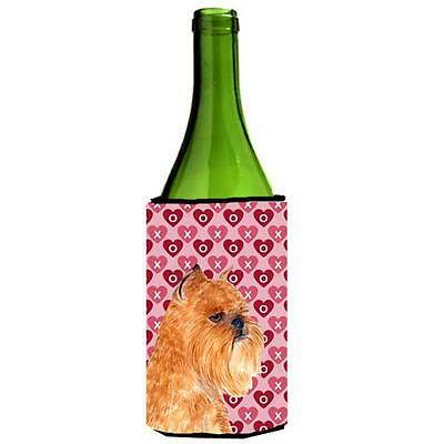 Brussels Griffon Hearts Love And Valentines Day Wine bottle sleeve Hugger 24 oz. • AUD 48.84