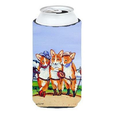 Carolines Treasures Cowboy Corgi Tall Boy bottle sleeve Hugger 22 To 24 Oz.
