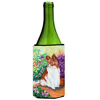 Carolines Treasures 7274LITERK Papillon Wine bottle sleeve Hugger 24 Oz. • AUD 48.26