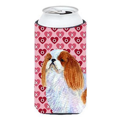 English Toy Spaniel Hearts Love And Valentines Day Tall Boy bottle sleeve Hugger