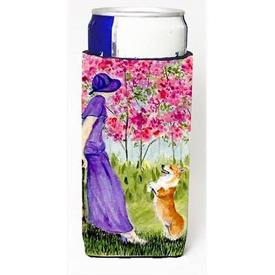 Carolines Treasures SS8616MUK Corgi Michelob Ultra bottle sleeves For Slim Cans