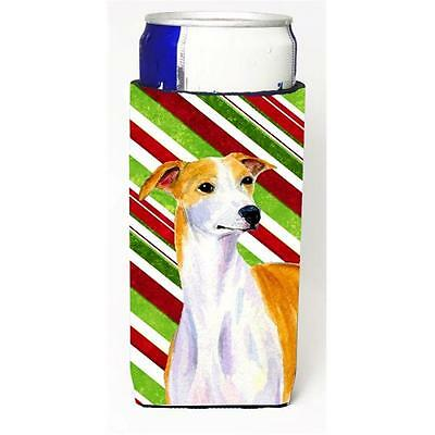 Whippet Candy Cane Holiday Christmas Michelob Ultra bottle sleeves For Slim C...