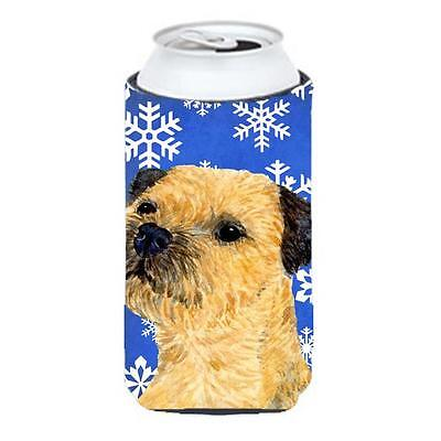 Border Terrier Winter Snowflakes Holiday Tall Boy bottle sleeve Hugger 22 To ...