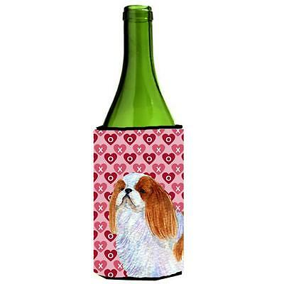 English Toy Spaniel Hearts Love And Valentines Day Wine bottle sleeve Hugger