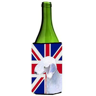 Bedlington Terrier With English Union Jack British Flag Wine bottle sleeve Hu... • AUD 48.26