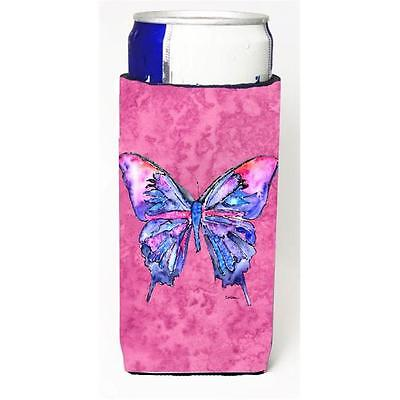 Butterfly On Pink Michelob Ultra bottle sleeves For Slim Cans 12 oz.